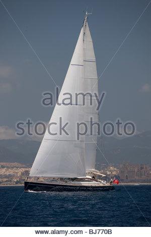 Ameena at The Super Yacht Cup, Palma de Mallorca, Spain - Stock Photo