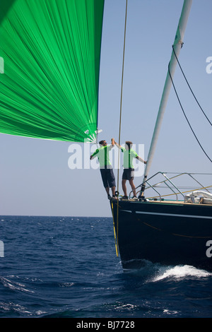 Scorpione dei Mari at The Super Yacht Cup, Palma de Mallorca, Spain - Stock Photo