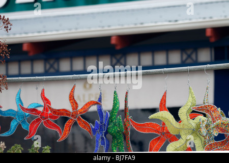 Colourful African bead work on sale to tourists in Simon's Town - Stock Photo