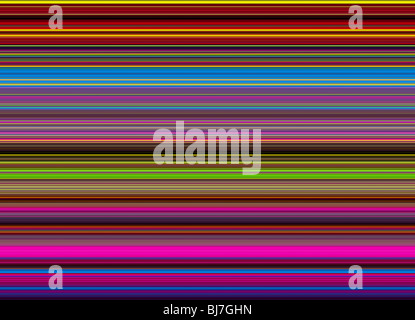 Multicoloured striped lines pattern. Digital illustration crafted from a photograph - Stock Photo