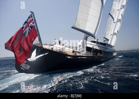 Maltese Falcon during the The Super Yacht Cup, Palma de Mallorca, Spain - Stock Photo