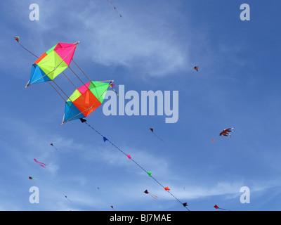 Sky full of kites - Stock Photo
