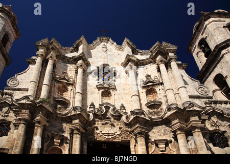 Havana Cathedral also knwn as Cathedral of Saint Christopher of Havana in Cuba - Stock Photo