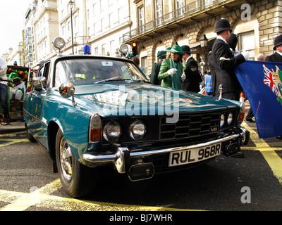 Rover 3500 V8 1975 Police car used by Metropolitan Police force - Stock Photo