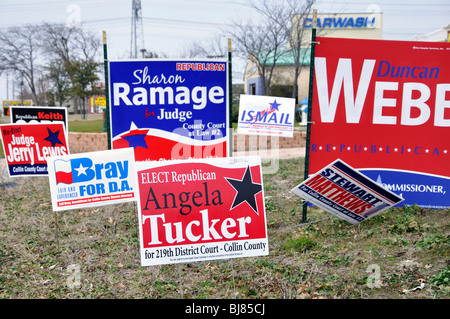 Election Campaign Signs Texas Usa Stock Photo 28586302