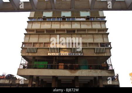 Africa Angola Flats Building Luanda Office Street - Stock Photo