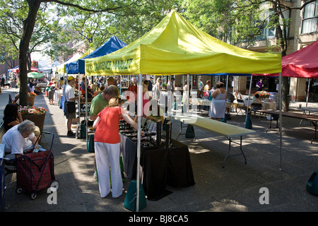 St.Lawrence Outdoor Farmers Market in the city of Toronto;Ontario;Canada - Stock Photo