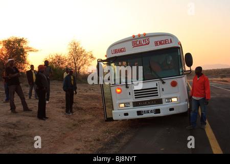 Africa Angola Benguela Lubango Buses Transport - Stock Photo