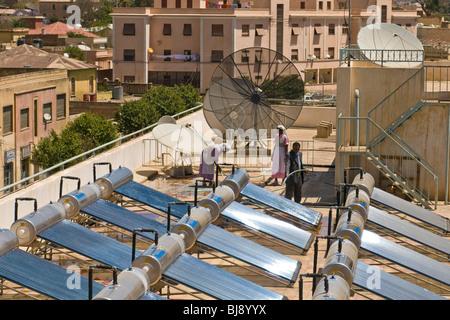 Solar panels, Asmara, Eritrea - Stock Photo