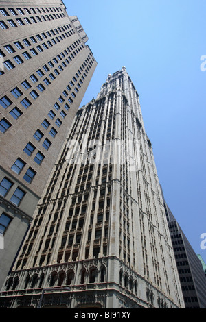 different architectural styles of buildings in new york city stock