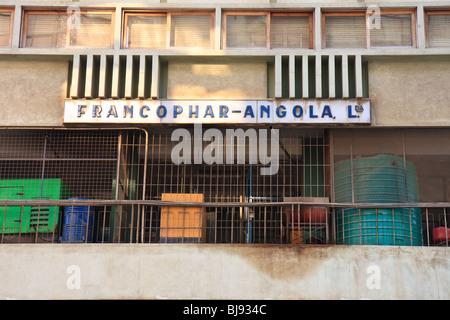Africa Angola Flats Building Detail Luanda Street - Stock Photo