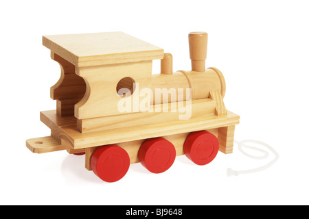 Wooden Toy Train - Stock Photo