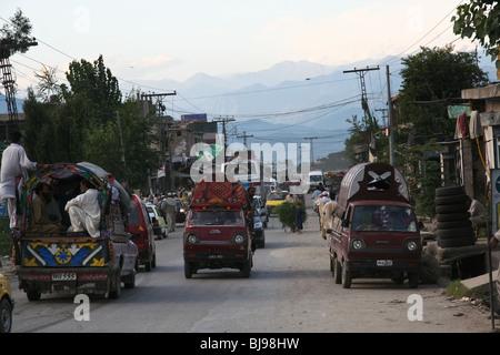 Gilgit-Baltistan Karakoram Highway Pakistan - Stock Photo