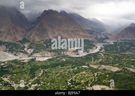 Baltistan Hunza Karakoram Karimabad Pakistan - Stock Photo