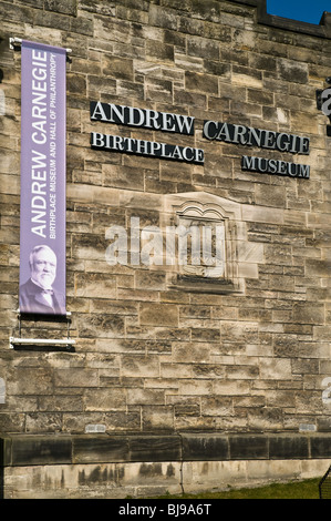 dh Andrew Carnegie Museum DUNFERMLINE FIFE Andrew Carnegie Museum signs birthplace heritage centre building