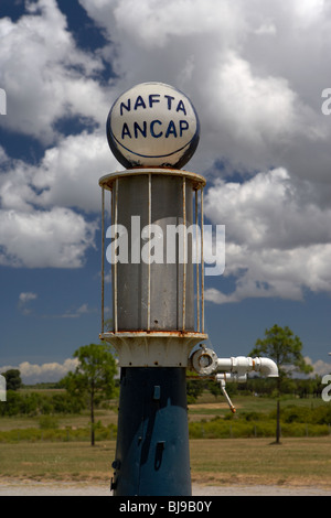 ancap nafta vintage petrol pump on a farm in Colonia Del Sacramento Uruguay South America - Stock Photo