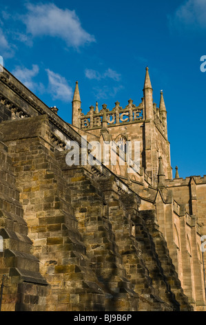 dh Dunfermline Abbey DUNFERMLINE FIFE Scotland King Robert the Bruce inscription historical tower