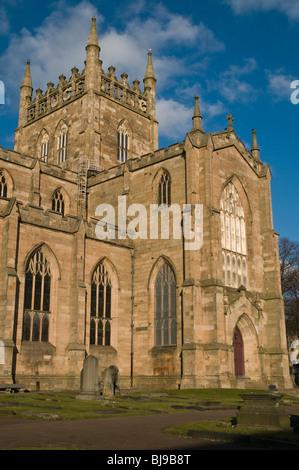 dh Dunfermline Abbey DUNFERMLINE FIFE King Robert the Bruce inscription Dunfermline Abbey south nave scotland