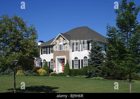 Single family house with a big land plot, USA - Stock Photo