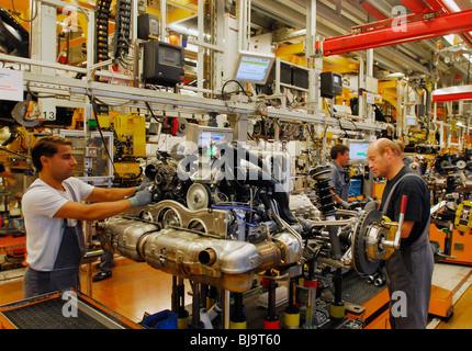 Manufacturing of Porsche Carrera, Stuttgart, Germany - Stock Photo