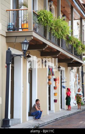 Casco Viejo, Casco Antiguo, Old City, Panama City, Panama, Central America  - Stock Photo
