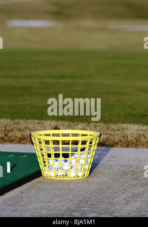 Driving range balls - Stock Photo