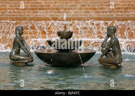The River artwork in Victoria Square, Birmingham, West Midlands, - Stock Photo
