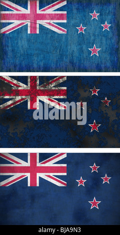 Great Image of the Flag of New Zealand - Stock Photo