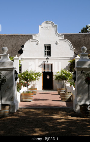 Entrance to the wine sales and tasting room at Vergenoegd wine estate at Faure on the Stellenbosch wine route western - Stock Photo