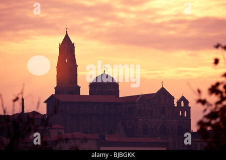 CATHEDRAL OF NOTRE-DAME-DU-PUY, LE PUY EN VELAY - Stock Photo