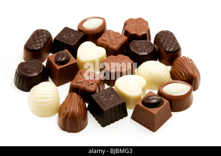 Assorted belgian chocolates - Stock Photo