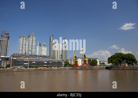 modern high rise apartment and office buildings including le parc and mulieris towers in puerto madero buenos aires - Stock Photo