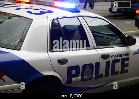 Vancouver police department car, Vancouver, British Columbia, Canada. - Stock Photo