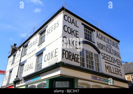 old seed merchant banbury town centre high street oxfordshire england uk gb - Stock Photo