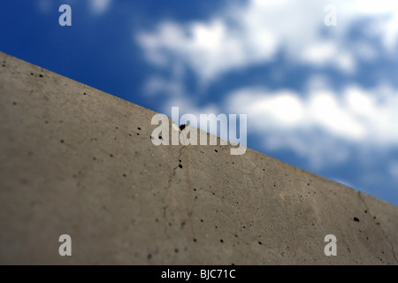 Crack in the Memorial to the Murdered Jews of Europe, Berlin, Germany - Stock Photo