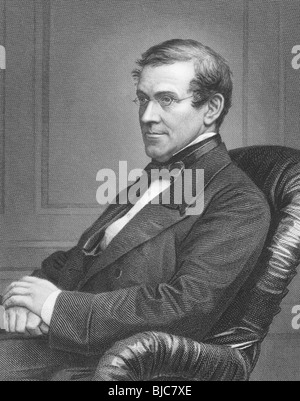 Charles Wheatstone (1802-1875) on engraving from the 1800s. English scientist and inventor. - Stock Photo