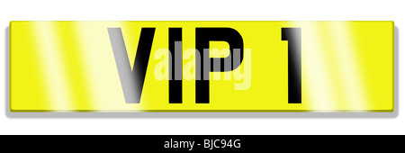 illustration of cherished registration plate - Stock Photo