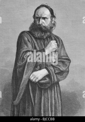 Judas on engraving from the 1800s. Perfomed by George Lechner in the Oberammergau Passion Play. Published in the - Stock Photo