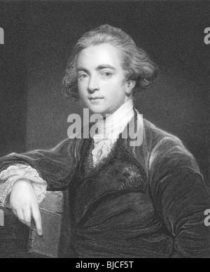 William Jones (1746-1794) on engraving from the 1800s. English philologist and scholar. - Stock Photo