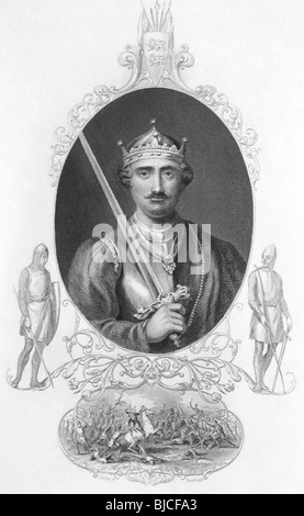 William the Conqueror (1027-1087) on engraving from the 1800s. King of England during 1066-1087. - Stock Photo