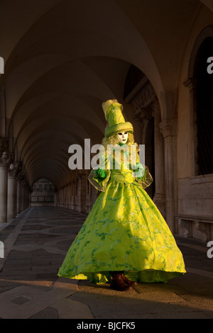 Costumed carnival participant,Venice, Italy - Stock Photo