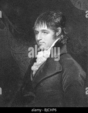 Richard Porson (1759-1808) on engraving from the 1800s. English classical scholar. - Stock Photo
