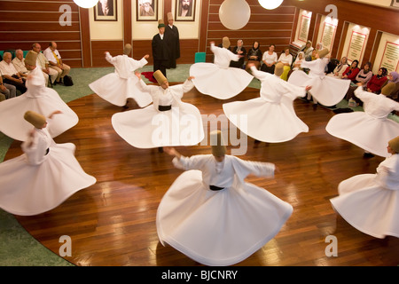Whirling Dervishes, Istanbul. Turkey - Stock Photo