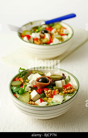 Mozzarella salad. Recipe available. - Stock Photo