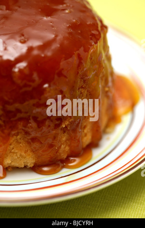 Freshly Baked Syrup Sponge Pudding Dessert With No People - Stock Photo
