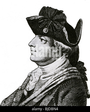 GENERAL SIR HENRY CLINTON - British Army officer (1730-1795) - Stock Photo