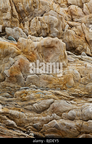 brown sedimentary rock background - Stock Photo