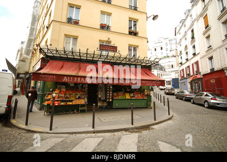 greengrocer 39 s shop made famous by amelie film montmartre paris stock photo royalty free image. Black Bedroom Furniture Sets. Home Design Ideas
