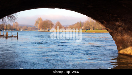 Bridge over the River Thames at Henley on Thames Oxfordshire England UK - Stock Photo