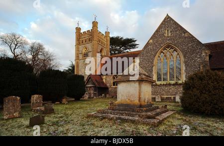 Hambleden Village Church Buckinghamshire England UK - Stock Photo